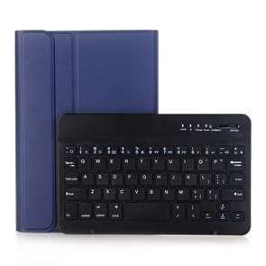 A290 Voor Galaxy Tab A 8.0 T290 / T295 (2019) Afneembare Bluetooth-toetsenbord lederen behuizing met standaardfunctie (Blauw)