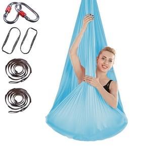 Indoor Anti-gravity Yoga Knot-free Aerial Yoga Hangmat met gesp / verlengband  maat: 400x280cm(Lake Blue)