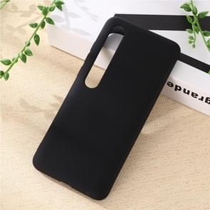 Voor Xiaomi Mi 10 Pro 5G Solid Color Liquid Silicone Shockproof Coverage Case (Zwart)