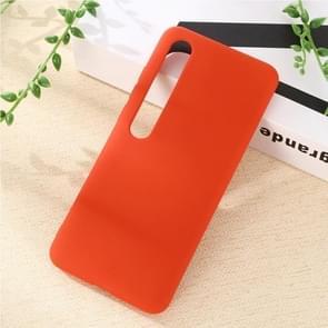 Voor Xiaomi Mi 10 Pro 5G Solid Color Liquid Silicone Shockproof Coverage Case(Rood)