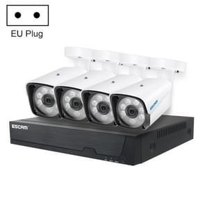 ESCAM PVR601 4CH POE NVR HD 3MP H.265 Compressiebeveiligingssysteem(EU-stekker)
