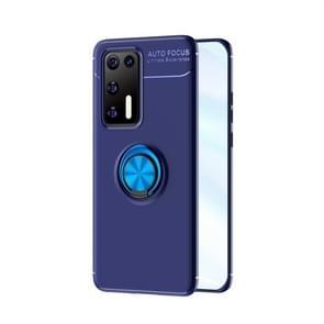 Voor Huawei P40 Lenuo Shockproof TPU beschermhoes met onzichtbare houder (blauw)