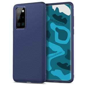 Voor Huawei P40 Pro Lenuo Leshen Series Stripe Texture TPU Protective Case(Blauw)