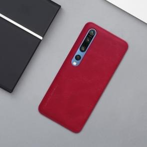 Voor Xiaomi Mi 10 5G/Mi 10 Pro 5G NILLKIN QIN-serie Crazy Horse Texture Horizontal Flip Leather Case with Card Slot (Red)