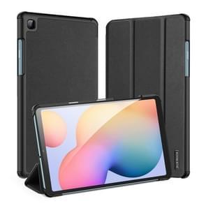 Voor Galaxy Tab S6 Lite 10 4 inch DUX DUCIS Domo Series Horizontale Flip Magnetic PU Lederen Behuizing met drie opvouwbare Houder & Pen Slot(Zwart)