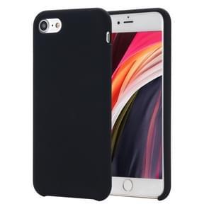 Voor iPhone SE 2020 Shockproof Full Coverage Siliconen soft protective case(zwart)