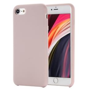 Voor iPhone SE 2020 Shockproof Full Coverage Siliconen soft protective case(Roze)