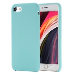 Voor iPhone SE 2020 Shockproof Full Coverage Siliconen soft protective case(light blue)