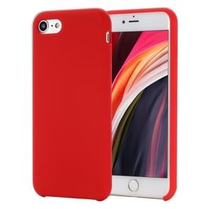 Voor iPhone SE 2020 Shockproof Full Coverage Siliconen soft protective case(Rood)