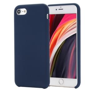 Voor iPhone SE 2020 Shockproof Full Coverage Siliconen soft protective case (donkerblauw)