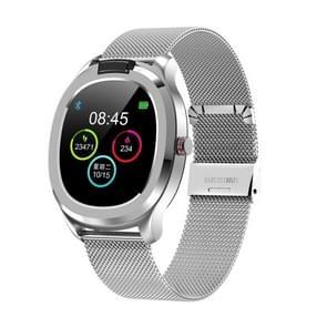 T01 1 3 inch TFT Kleurenscherm IP68 Waterproof Sport Smart Watch  Ondersteuning lichaamstemperatuur meting / hartslagbewaking / Slaapmonitor  Stijl: Met stalen horlogeband (zilver)