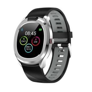 T01 1 3 inch TFT Kleurenscherm IP68 Waterproof Sport Smart Watch  Ondersteuning lichaamstemperatuur meting / hartslagbewaking / Slaapmonitor  Stijl: Met TPU Horlogeband (Zilver)