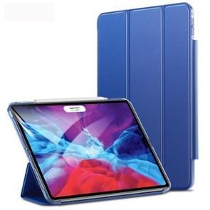 Voor iPad Pro 12.9 (2020) ESR Yippee Color Seires PU Horizontal Flip Leather Case met Hasp & Holder & Sleep / Wake-up Function(Navy Blue)