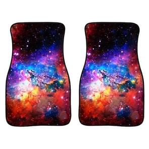 2 in 1 Universal Printing Auto Car Floor Mats Set  Style:C0161GO