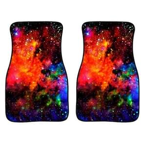 2 in 1 Universal Printing Auto Car Floor Mats Set  Style:C0163GO
