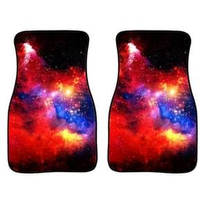 2 in 1 Universal Printing Auto Car Floor Mats Set  Style:C0165GO