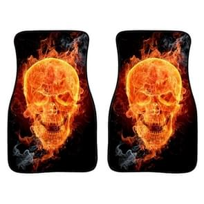 2 in 1 Universal Printing Auto Car Floor Mats Set  Style:3132GO