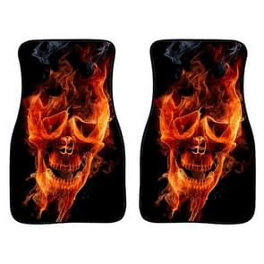 2 in 1 Universal Printing Auto Car Floor Mats Set  Style:4500GO