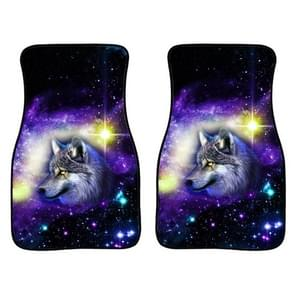 2 in 1 Universal Printing Auto Auto Floor Mats Set  Style:Scarred Wolf