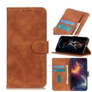 Voor iPhone SE 2020 Retro Texture PU + TPU Horizontal Flip Leather Case met Houder & Card Slots & Wallet(Brown)