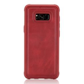 Voor Galaxy S8 Magnetic Shockproof PC + TPU + PU Lederen beschermhoes(Rood)