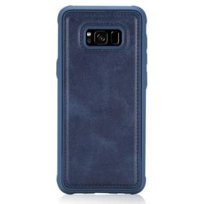Voor Galaxy S8 Magnetic Shockproof PC + TPU + PU Lederen beschermhoes(Blauw)