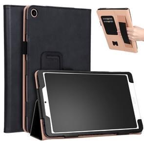 Voor Xiaomi Mi Pad 4 Plus / 10 1 inch 2018 Vintage PU Leather Tablet PC Beschermhoes met Bracket & Hand Support & Card Slots Function(Zwart)