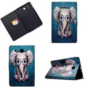 Elektrisch geperst links rechts platte veerkast met slaapfunctie Pen Cover & Card Slot & Holder(Elephant)