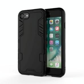 Voor iPhone SE (2020) PC + TPU Shockproof Protective Case(Zwart)