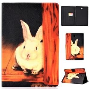 Voor Galaxy Tab S4 10.5 T830 Elektrisch Horizontaal TPU Painted Platte Veerkast met Slaapfunctie & Pen Cover & Card Slot & Holder(Bugs Bunny)