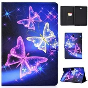 Voor Galaxy Tab S4 10.5 T830 Elektrisch Horizontaal TPU Painted Platte Veerkast met Slaapfunctie & Pen Cover & Card Slot & Houder (Starry Sky Butterfly)
