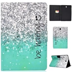 Voor Galaxy Tab S4 10.5 T830 Electric Horizontal TPU Painted Flat Feather Case with Sleep Function & Pen Cover & Card Slot & Holder(Green Quicksand)