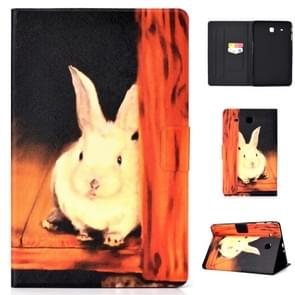 Elektrische horizontale TPU Painted Platte Feather Case met Pen Cover & Card Slot & Holder (Bugs Bunny)