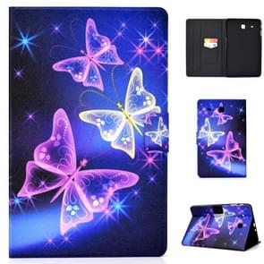 Elektrische horizontale TPU Painted Flat Feather Case met Pen Cover & Card Slot & Holder(Starry Sky Butterfly)