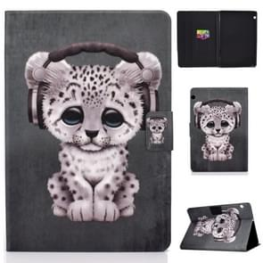 Elektrisch horizontaal TPU Painted Platte Veerkast met Pen Cover & Card Slot & Holder (Little Yellow Cat)