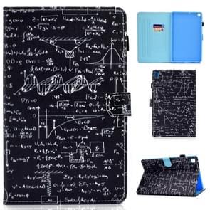Voor Galaxy Tab S6 Lite Naaidraad Horizontaal geschilderde platte lederen behuizing met slaapfunctie & penhoes & anti slipstrip & kaartsleuf & houder (vergelijking)