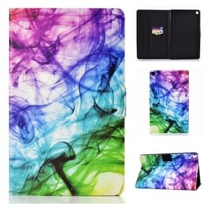 Voor Galaxy Tab S6 Lite Naaidraad Horizontaal geschilderde platte lederen case met slaapfunctie & penhoes & Anti Skid Strip & Card Slot & Holder(Smoke)