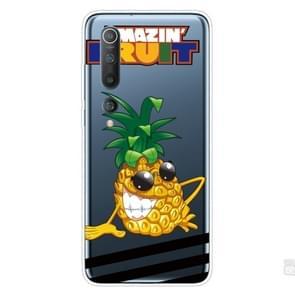Voor Xiaomi Mi 10 Pro 5G Schokbestendig geschilderd transparante TPU beschermhoes (Ananas)