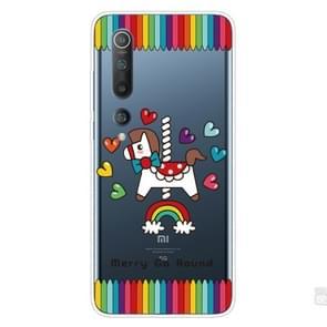 Voor Xiaomi Mi 10 Pro 5G Schokbestendig geschilderd transparante TPU beschermhoes (Trojaans paard)