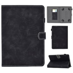 Voor 8 inch Embossing Naaidraad Horizontaal Geschilderd e-mes met penhoes & Anti Skid Strip & Card Slot & Holder(Zwart)