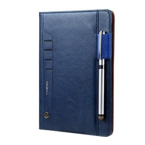 Voor iPad Air & Air 2 CMai2 Tmall Kaka Litchi Texture Horizontal Flip Leather Case met Houder & Card Slot & Photo Frame & Pen Slot(Royal Blue)