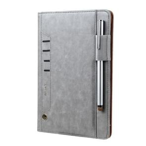 Voor iPad Air & Air 2 CMai2 Tmall Kaka Litchi Texture Horizontal Flip Leather Case met Houder & Card Slot & Photo Frame & Pen Slot(Grijs)