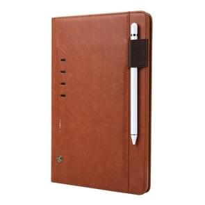 Voor Galaxy Tab S4 10.5/T830 CMai2 Tmall Kaka Litchi Texture Horizontal Flip Leather Case met Holder & Card Slot & Photo Frame & Pen Slot(Brown)