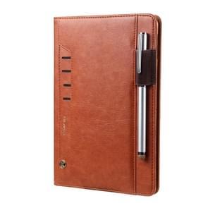 Voor iPad Pro 9.7 CMai2 Tmall Kaka Litchi Texture Horizontal Flip Leather Case met Holder & Card Slot & Photo Frame & Pen Slot(Brown)