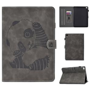 Embossing Naaidraad Horizontaal geschilderd e-bedmet je slaapfunctie & Pen Cover & Anti Skid Strip & Card Slot & Holder(Grijs)
