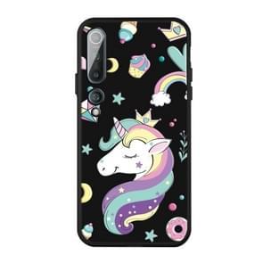 Voor Xiaomi MI 10 Pro Patroon Afdrukken Reliëf TPU Mobile Case (Candy Unicorn)