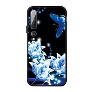 Voor Xiaomi MI 10 Pro-patroon afdrukken van reliëf TPU mobiele case (Orchid Butterfly)