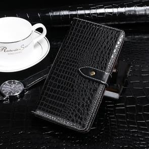 For Huawei Enjoy 10e idewei Crocodile Texture Horizontal Flip Leather Case with Holder & Card Slots & Wallet(Black)