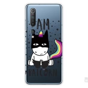 Voor Xiaomi Mi 10 Pro 5G Shockproof Painted Transparent TPU Protective Case (Batman)