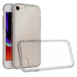 Voor iPhone SE (2020) Krasbestendige TPU + acryl beschermhoes(grijs)